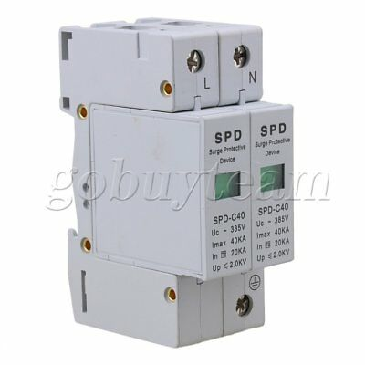 2P 20~40KA Surge Protective Device Over Voltage Lightning Arrester Protection