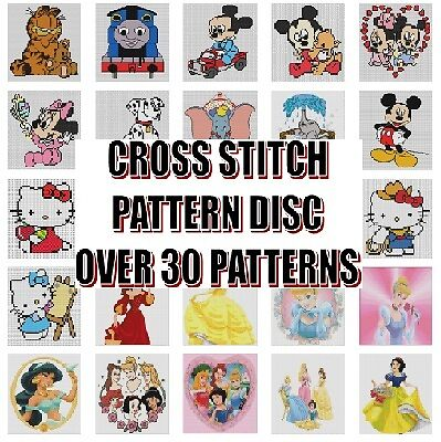 Cross Stitch Patterns Cd-Rom - Disney, Characters, Hello Kitty