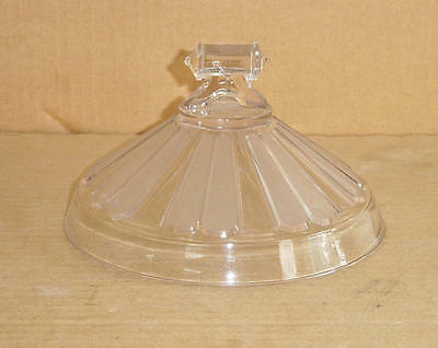EAPG CRYSTAL DOUBLE RIBBON COMPORT LID KING GLASS 1870'S