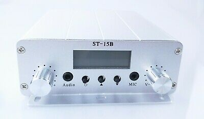 15W stereo PLL FM transmitter broadcast radio station silver ST-15B  only host