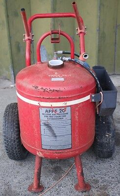 Pressure Wheeled Fire Extinguisher P.S.P  Model A FFF 20  90  Litres *Empty*