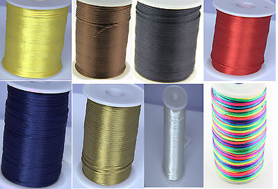 Wholesale 2MM Rattail Satin Cord Macrame Beading Nylon kumihimo String DIY LOT