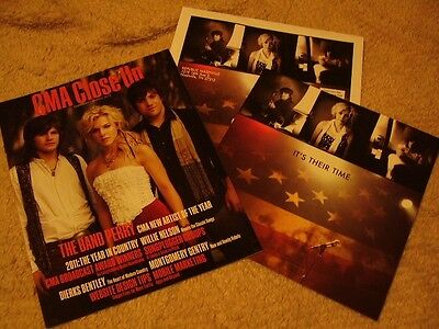 The Band Perry *Gorgeous 16-Page ACM Voter Booklet+CMA Close Up Mag Cover Story!