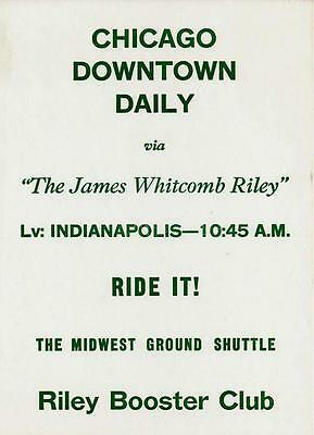 vntg 1 sheet ad chicago downtown daily james whitcomb riley ground shuttle rr