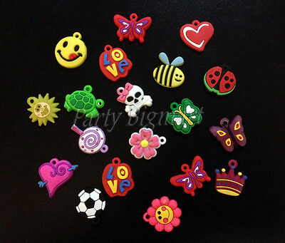 New 60 x Loom Band Charms DIY bands Rubber Charms - Random Mixed style Aus Stock