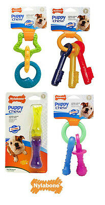 Nylabone Puppy Chew Teething  Bone Toys  Chicken, Bacon or original Flavours