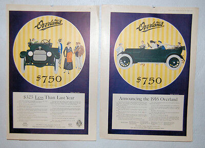 13. TWO WILLIES - OVERLAND MODEL 83 AUTO ADVERTISING PAGES  BY COLE PHILLIPS