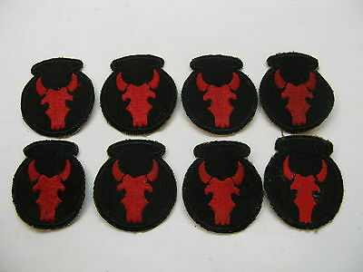 VINTAGE WWII ARMY PATCHES RED BULL 34TH INFANTRY DIVISION LOT 8 WW2 WW 2 ORIG