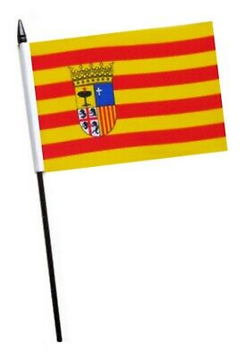 Spain Aragon Small Hand Waving Flag