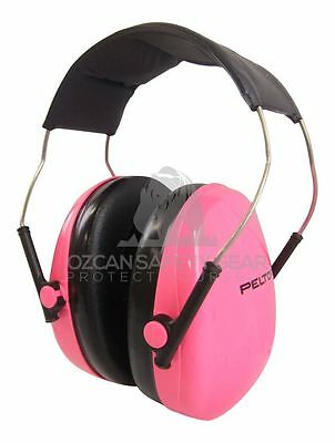 3M Peltor Earmuffs Headphones 13yrs+ Youth Safety Hearing Protection Music Pink