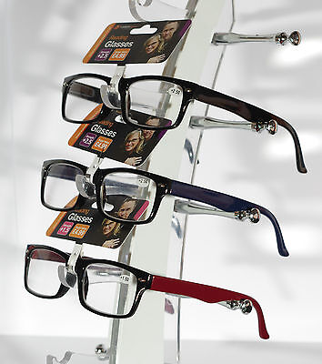 Wayfarer Style Reading Glasses, Designer, Spring Hinge, Good Quality Made 2 Last