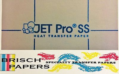 "INKJET TRANSFER FOR WHITE FABRIC: IRON-ON ""JET PRO SOFT STRETCH"" (11""x17"") 100CT"
