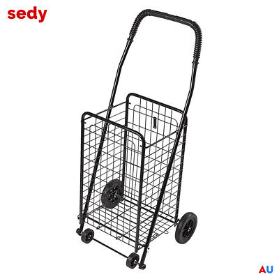 48cm Foldable Shopping Trolley Portable Cart 4 Wheel Collapsible