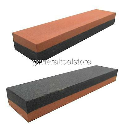 """Combination Sharpening Stone Silicon Carbide Double Sided 8"""" X 2"""" X 1"""""""