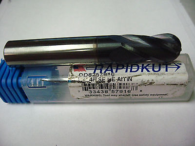 Rapidkut 13mm Solid Carbide End Mill ALCrN Coated 4 Flute