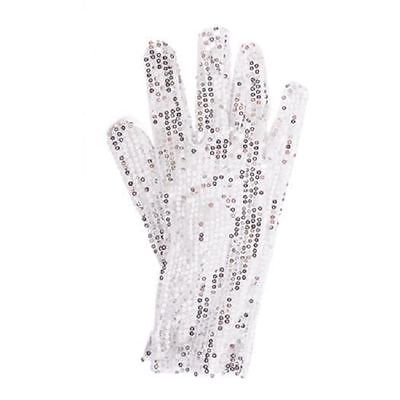MICHAEL JACKSON SEQUIN GLOVE SILVER - BILLIE JEAN NEW!! #AA84 Free Shipping