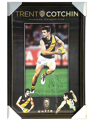 Professionally Framed Authentic Trent Cotchin Hand-Signed Afl Approved Print