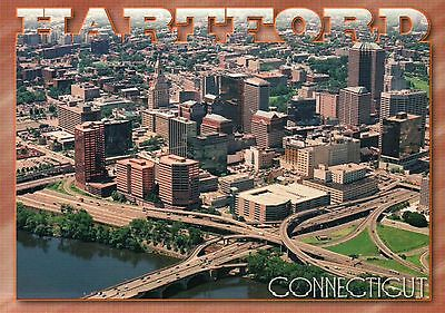 Aerial View of Hartford, Connecticut, Insurance Capital of the World -- Postcard