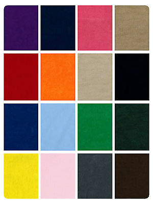 "Plain Suedette Fabric - Faux Suede Material - Polyester - Doe Skin - 158cm (62"")"