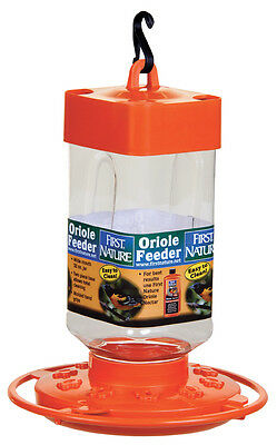 First Nature 3088 32 Ounce Orange Oriole Nectar Feeder- Made in the USA