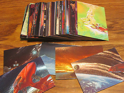 1993 Roger Dean Card Set Of 90 Base Cards+ With 5 Chrome Insert Set