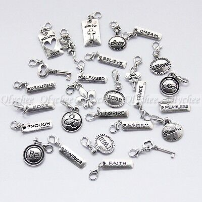 New Clip on Charms Free Shipping Fit Chain Bracelet Pendant For Floating Locket