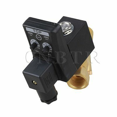 """AC220V Automatic Electronic Timed Drain Valve for Filters Separators 1/2"""""""