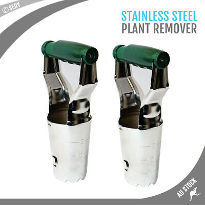 "2 Piece Stainless Heavy Duty 4"" Post Hole Digger Squeezing Handle Moving Plants"