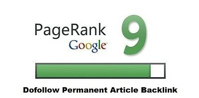 PERMANENT REAL Actual PR9 Dofollow Link in a niche article on my blog ! SEO .