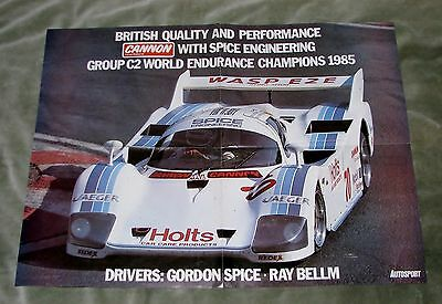 1985 Spice Group C2 World Endurance Champion Poster