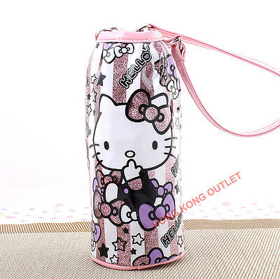 Hello Kitty Thermo Thermal Insulated Cooler Water Bottle Bag E23b