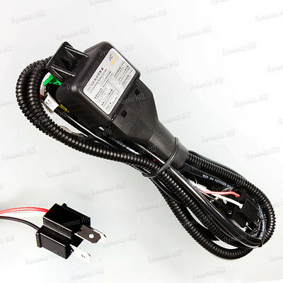 Relay Wiring Harness w/ Fuse for Bi-Xenon HID Xenon Kit - H4 9003 HB2 (Grp C)