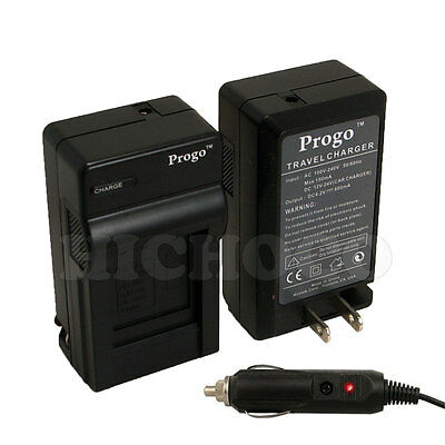 Rapid Battery Charger w/ Car Adapter for Sony NP-FW50 DSC-RX10 Alpha A3000 A6000