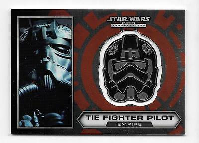 2014 Star Wars Chrome Perspectives Medallion #21 Tie Fighter Pilot