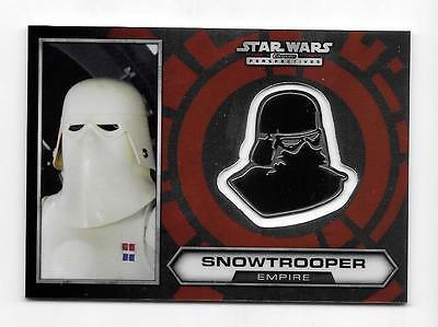 2014 Star Wars Chrome Perspectives Medallion #19 Snowtrooper