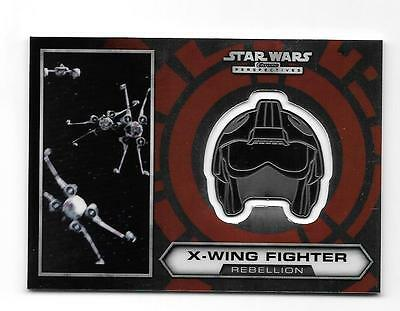 2014 Star Wars Chrome Perspectives Medallion #15 X-Wing Fighter /100 Sp