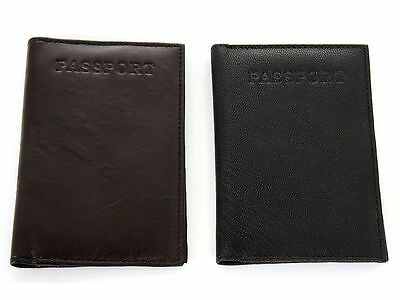 Men's New World Travel Handcrafted Leather Passport Holder Cover Case