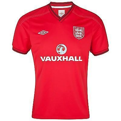 Official England Training Jersey Sponsored - Vermillion - Red RRP £34.99