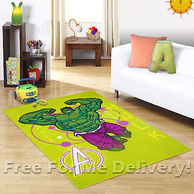 KIDS EXPRESS THE INCREDIBLE HULK FUN FLOOR RUG (XS) 100x150cm **FREE DELIVERY**