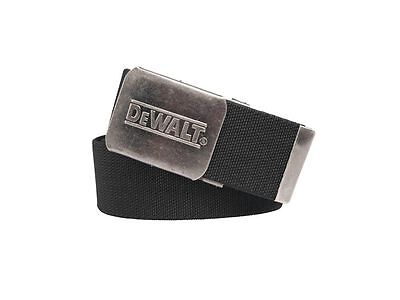 "DEWALT Black Work Belt Workwear Trouser Belt Elasticated One SIze (Upto 46"" )"