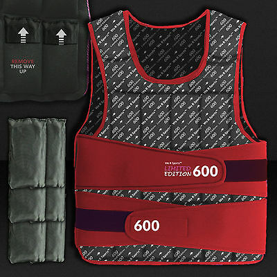 15kg Weighted Weight Vest Loss Training Exercise Crossfit LIMITED EDITION Red