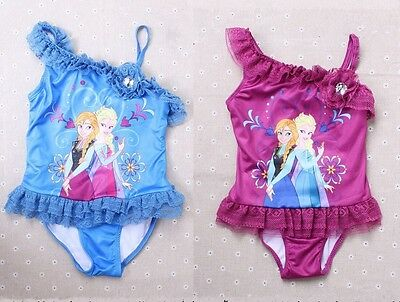 New Girls Disney Frozen Princess Anna,Elsa Swimwear One Piece Swimsuit size 3-8Y