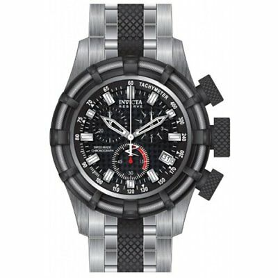 Invicta Men's Bolt Chronograph Black Dial Stainless Steel Watch 80544
