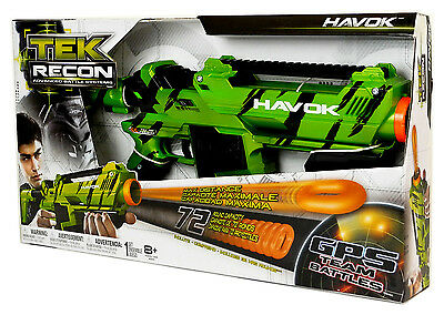 Tek Recon Havok Dartblaster + 36 NRG-Rounds + Ammo Clip + Shoulder Stock
