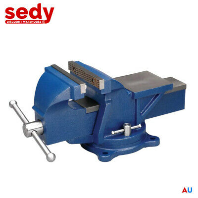 "6"" x 6"" Super Heavy Duty Bench Vise Swivel Clamp Table Base Grip Capacity"