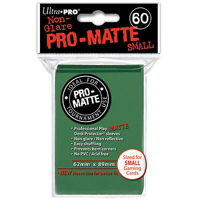 Ultra Pro Deck Protector Sleeves x60 - Pro Matte Non-Glare - Small - Green