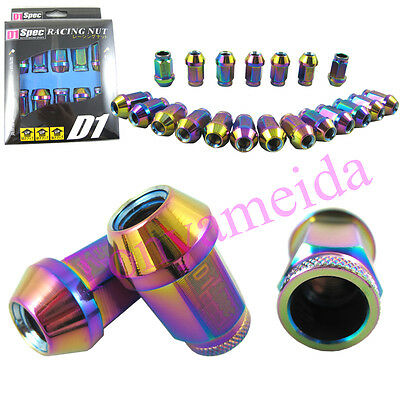 UNIVERSAL NEO CHROME  Lug Nuts Set of 20PCS 40MM 12x1.5mm Racing Light Weight