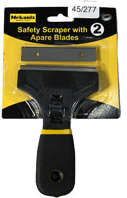 Window Scraper With Spare Blade Removes Paint Caulk From Glass Tiles Diy 2 Blade