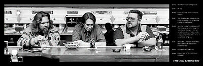 "The Big Lebowski - Mini Door Movie Poster / Print (Quotes) (Size: 36"" X 12"")"