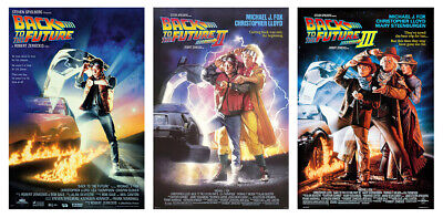 """Back To The Future I, Ii & Iii - 3 Piece Movie Poster Set (Size: 27"""" X 40"""")"""
